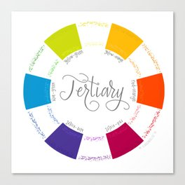 Tertiary - Color Wheel - Colour Circle Canvas Print
