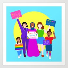 Rally For Love Art Print