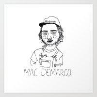 cactei Art Prints featuring Mac DeMarco by ☿ cactei ☿