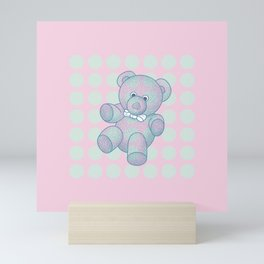 Snoozy – the Little Teddy Bear Mini Art Print