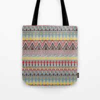 whisky Tote Bags featuring WHISKY AZTEC  by Kiley Victoria