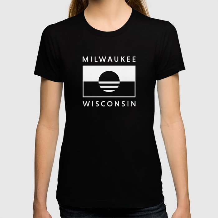 Milwaukee Wisconsin - White - People's Flag of Milwaukee T-shirt