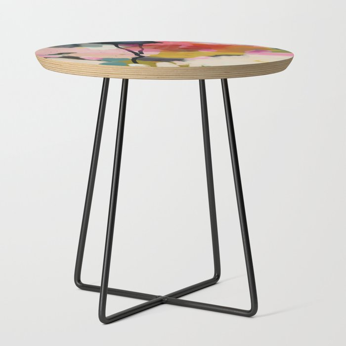 paysage_abstract_Side_Table_by_lalunetricotee__Black__Round