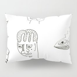 Cartoon character design print with monster people Pillow Sham