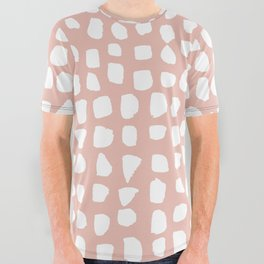 Dots / Pink All Over Graphic Tee