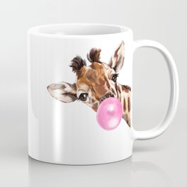 Bubble Gum Sneaky Giraffee Coffee Mug