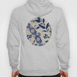 Blue Oriental Vintage Tile 04 Hoody