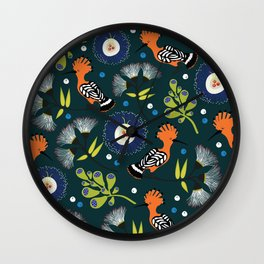 Hoopoe, bird pattern design Wall Clock