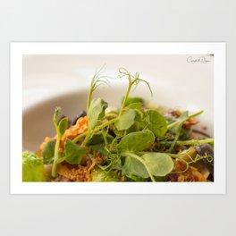The Art of Food Curly Greens Art Print
