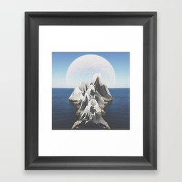 In order to get somewhere you must first travel half of that distance, but first you must go half of Framed Art Print