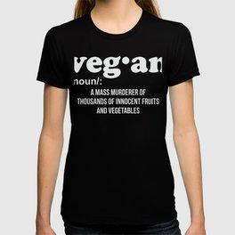 Veganism Funny Vegetarian Gift T-shirt