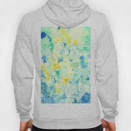 Watercolor Abstract Landscape Green Hoody