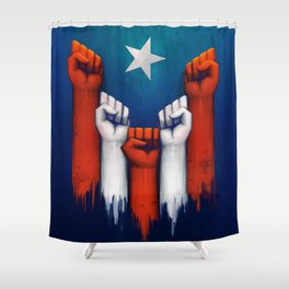 Puerto Rico power of the people Shower Curtain