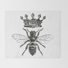 Queen Bee | Black and White Decke