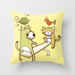 Saturdays and Sundays Throw Pillow