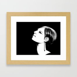 Barbra Streisand  Framed Art Print