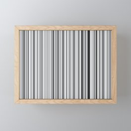 Old Skool Stripes - 50 Shades of Gray - Extra Wide Framed Mini Art Print