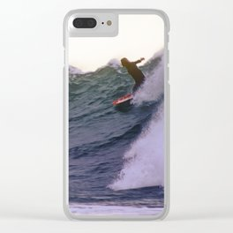 George Greenough Rides Rincon Point Clear iPhone Case