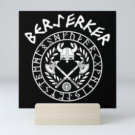 Berserker Vikings Germanic Runes Norse Mythology Mini Art Print