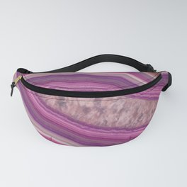 Pink agate swirl Fanny Pack