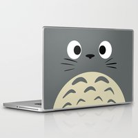 miyazaki Laptop & iPad Skins featuring Curiously Troll ~ My Neighbor Troll by Canis Picta