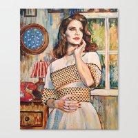 lana del rey Canvas Prints featuring Lana Rey by Iván Gabela
