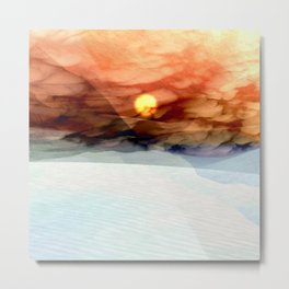 Desert White Sands Metal Print