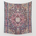 Kashan Central Persian Rug Print by vickybragomitchell