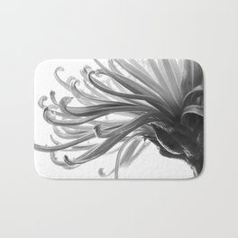 Spider Mum Black and White 2 Bath Mat