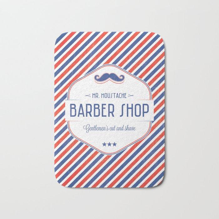 Mr. Moustache Barber Shop Bath Mat