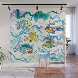 Funny fishes Wall Mural