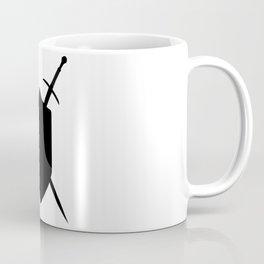 Crossed Swords Silhouette Coffee Mug