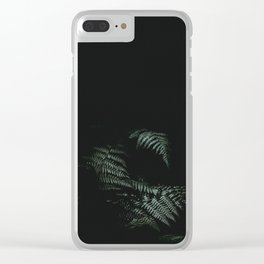 Midnight Fern Clear iPhone Case