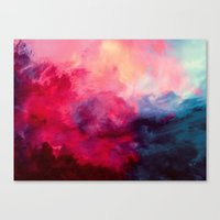 the last unicorn Canvas Prints featuring Reassurance by Caleb Troy