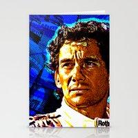 senna Stationery Cards featuring Ayrton Senna by TOROZON