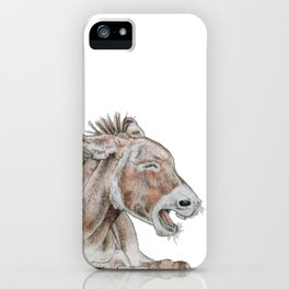 we can all be donkeys sometimes; so please forgive me for my crimes! iPhone Case