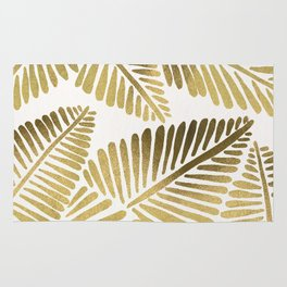 Tropical Banana Leaves – Gold Palette Rug