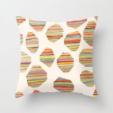watercolor geometric lines Throw Pillow