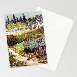 Vincent Van Gogh Flowering Garden Stationery Cards