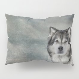 Drawing Dog Alaskan Malamute Pillow Sham