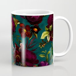 Before Midnight Vintage Flowers Garden Coffee Mug