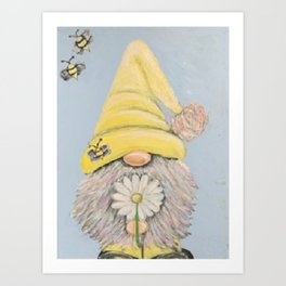 Bee-Gnomie Art Print