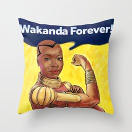 Wakanda Forever Throw Pillow