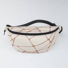 Cavern Clay SW 7701 Abstract Mosaic Pattern 1 on Creamy Off White SW7012 Fanny Pack