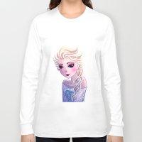 frozen elsa Long Sleeve T-shirts featuring Elsa Frozen by Kaori