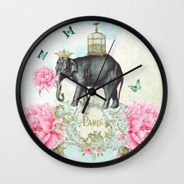 Paris Elephant Wall Clock