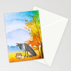 Autumn Dog Stationery Cards