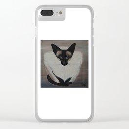 The Siamese Cat Clear iPhone Case