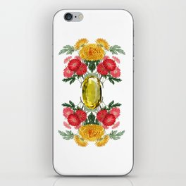 Birth Stone & Flower Print/NOVEMBER iPhone Skin