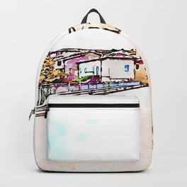 Fognano: road and buildings Backpack